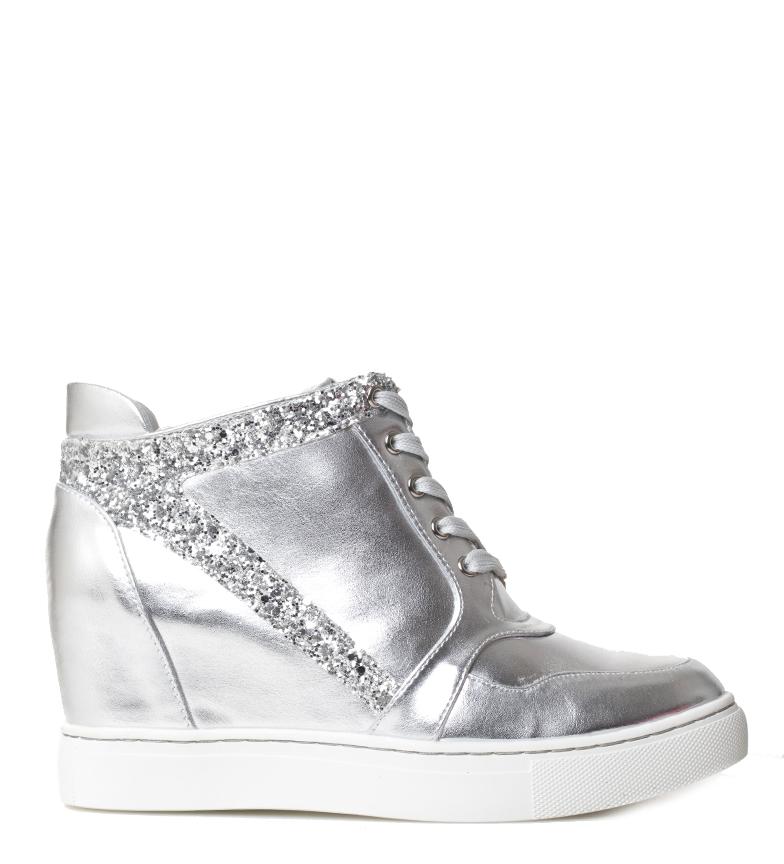 Detalles de MARIAMARE Zapatillas Zey plata Altura cuña: 8cm Mujerchica 5 a 8cm 8 a
