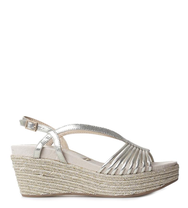 Comprar MARIAMARE Cia champagne sandals - Wedge height: 7cm
