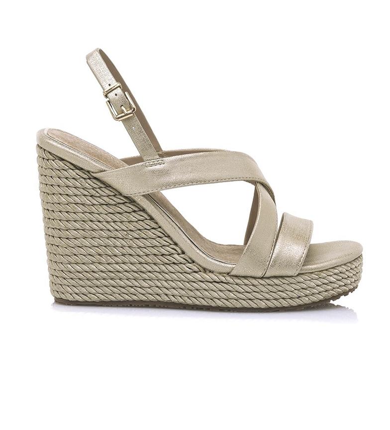 Comprar MARIAMARE Sandals 67687 gold - wedge height: 11,5cm
