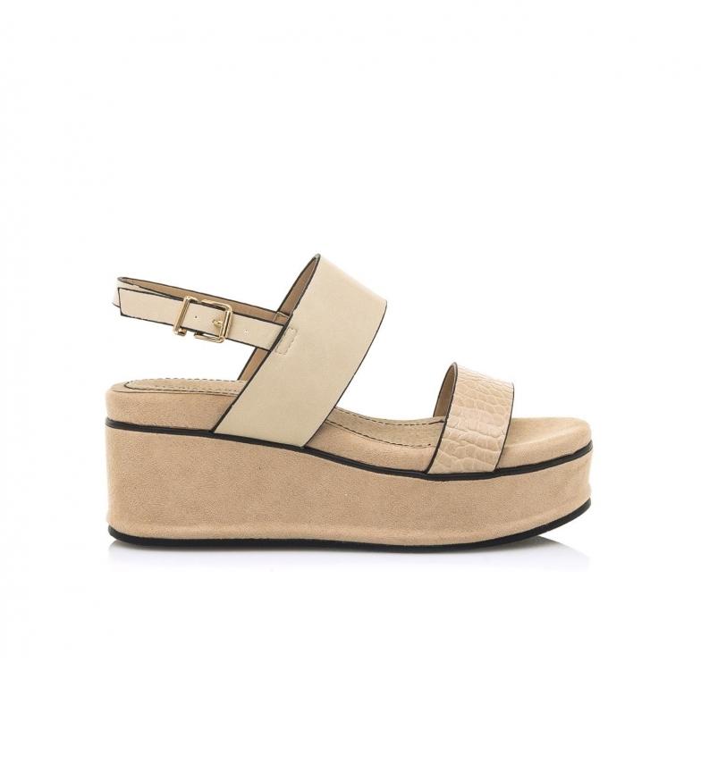Comprar MARIAMARE Sandals 67692 beige -Height wedge: 7.5 cm