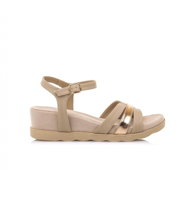 Comprar MARIAMARE Sandálias 67755 bege -Cunha de altura: 5 cm
