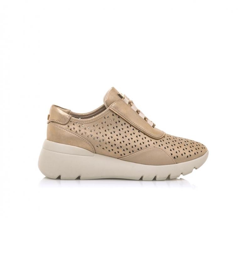 MARIAMARE Sneakers 68006 dourado -Cunha de altura: 5 cm