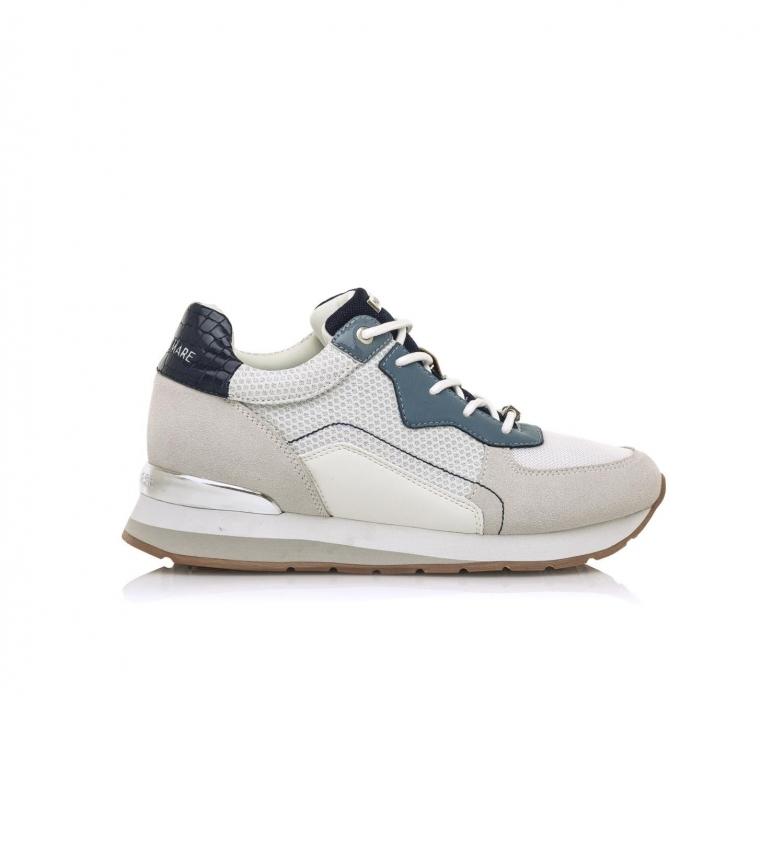 MARIAMARE Sneakers 68019 bianco sporco, blu -Altezza zeppa: 5 cm-