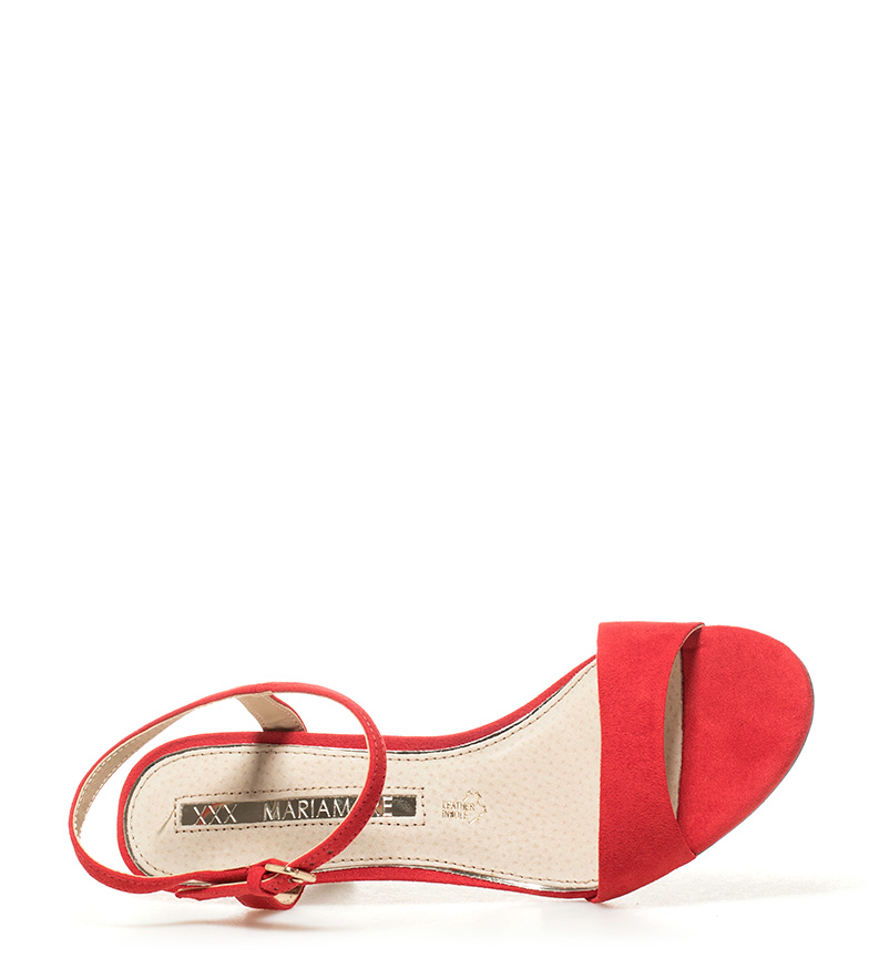 Sandalias Altura rojo 8cm tacón Abril MARIAMARE CwSdqOTS7
