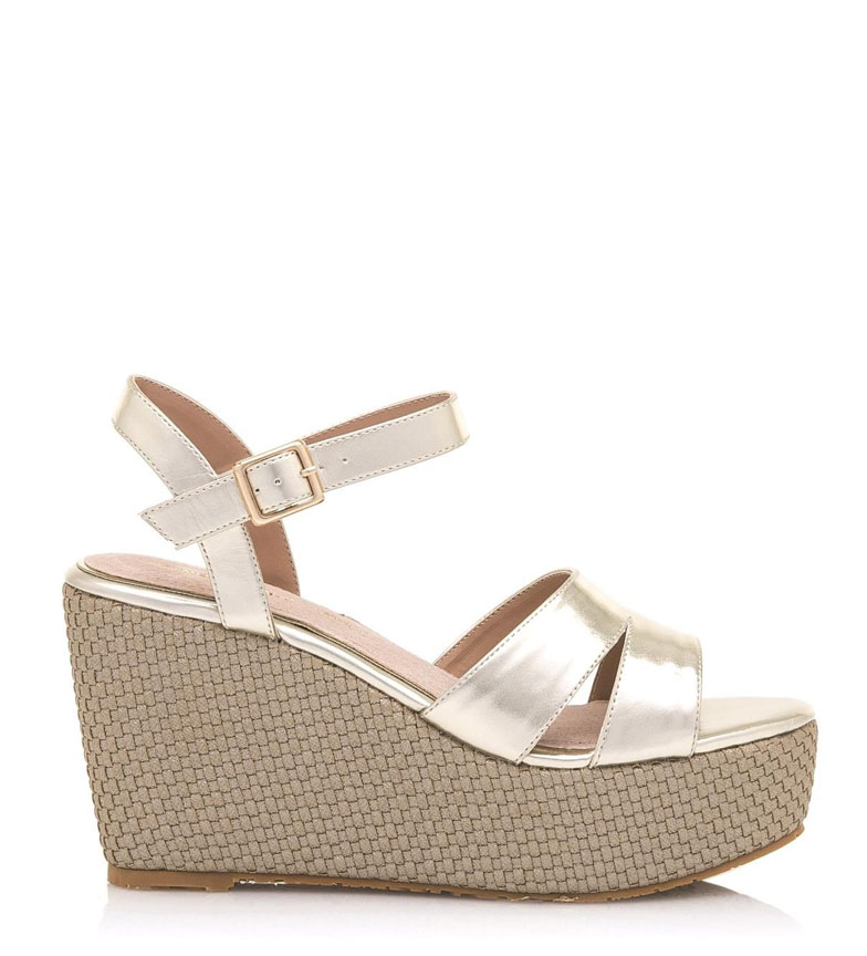 Comprar MARIAMARE Carol champagne sandals - Wedge height: 10cm