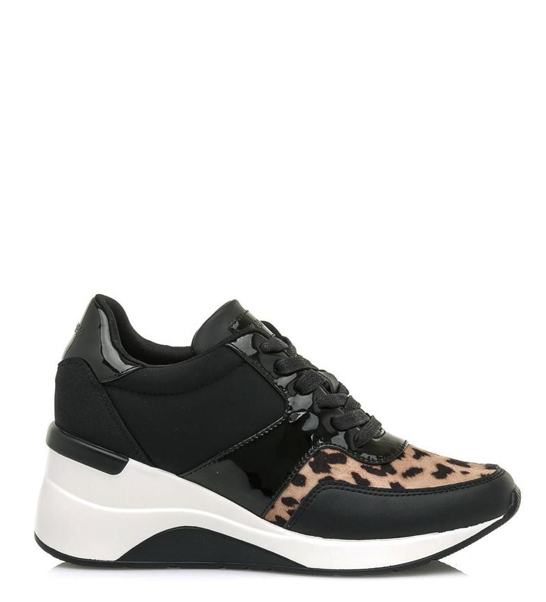 Comprar MARIAMARE Zapatillas 62447 negro, leopardo -Altura cuña: 6 cm-