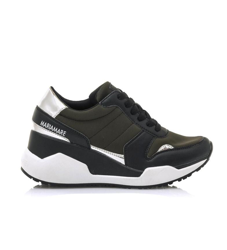Comprar MARIAMARE Zapatillas 62469 negro, kaki -Altura cuña: 5.5 cm-