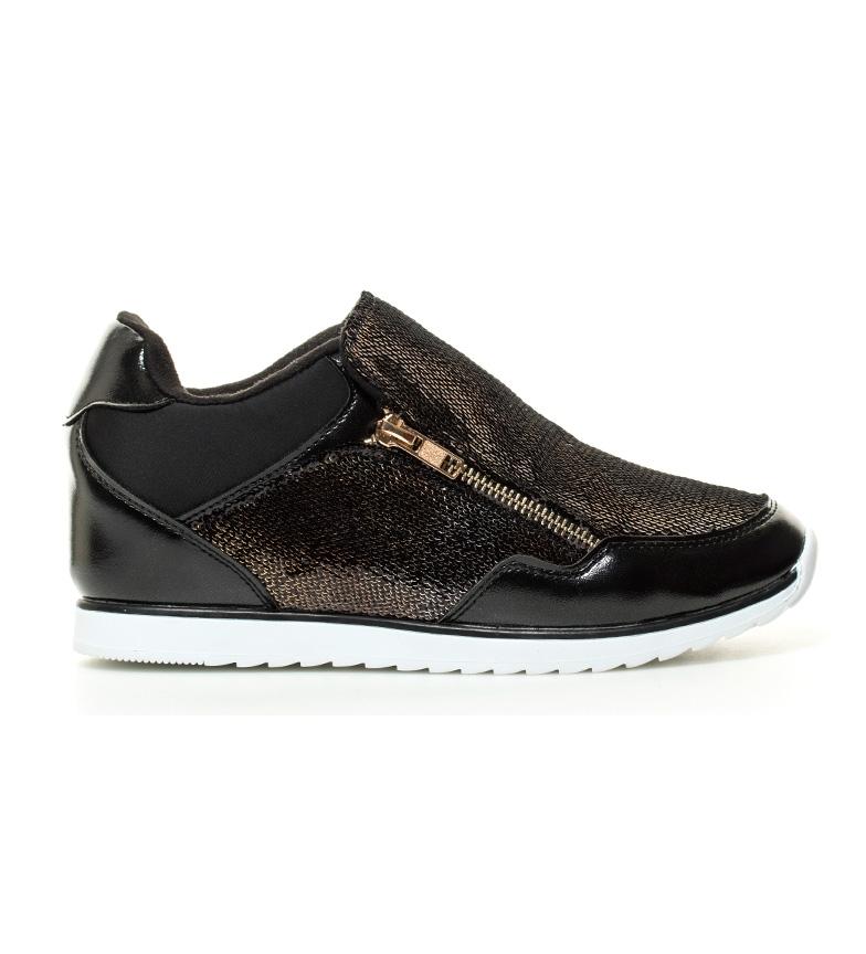 Comprar MARIAMARE Boga scarpe nere, bronzo cuneo -Altezza interno: 6.50cm-