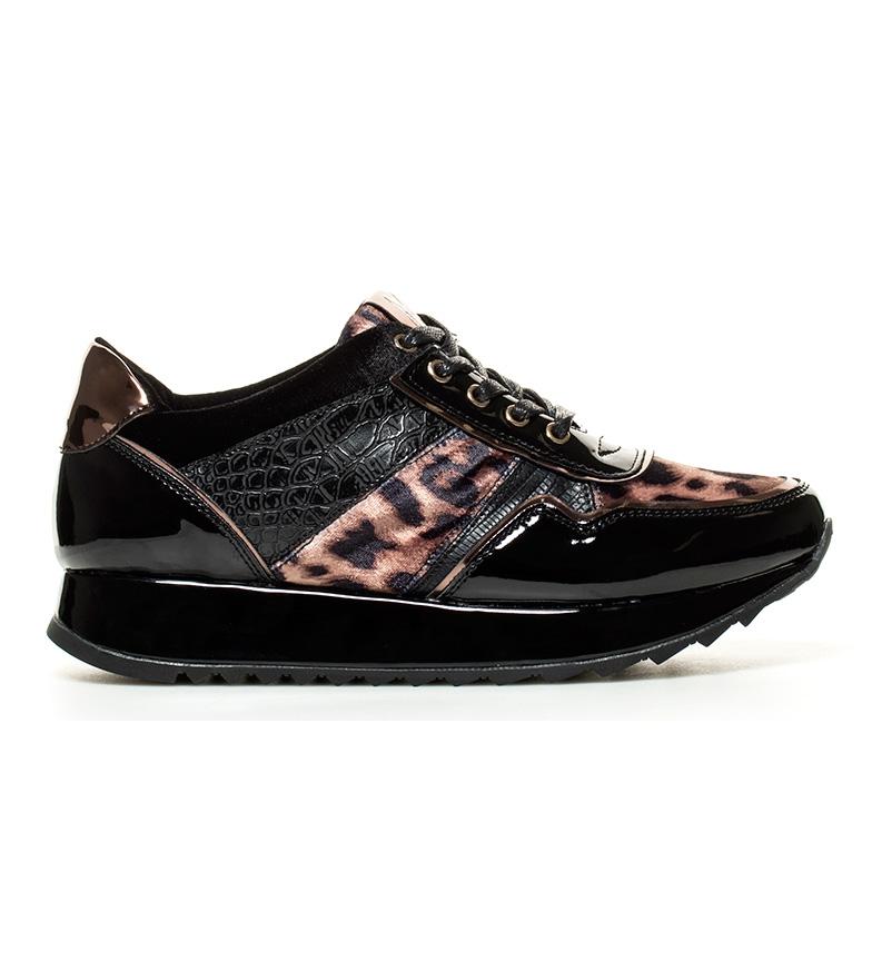 Comprar MARIAMARE Zapatillas Charo negro, leopardo -Altura suela: 3,5cm-
