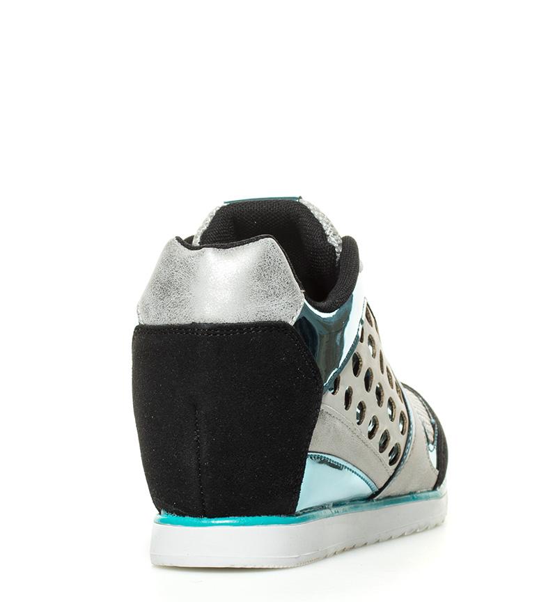 6cm negro MARIAMARE cuña Altura Zapatillas azul Iride 0UXnYvU