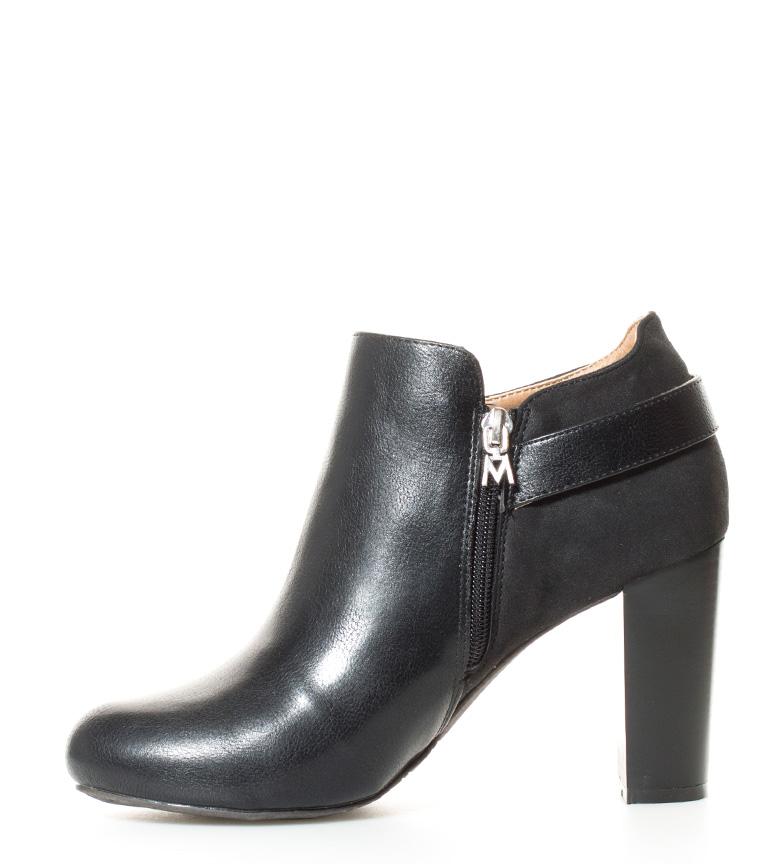 MARIAMARE br Altura br negro 9cm tacón Zapatos abotinados Claribel RRaU6w4Sq