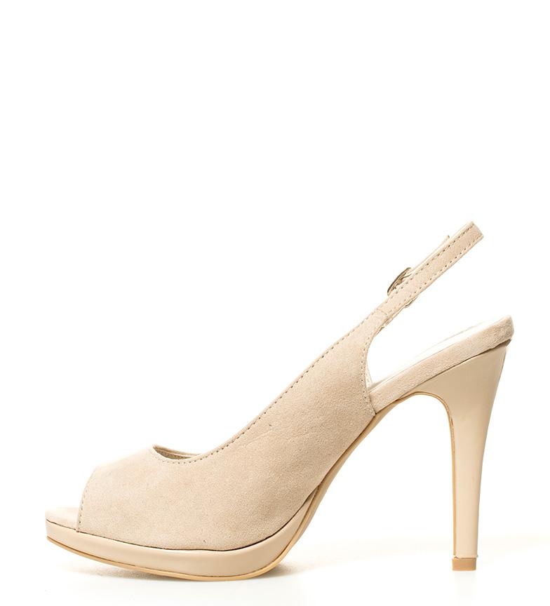 Altura MARIAMARE tacón Zapatos Patience br beige br 11cm 1xv1XqF