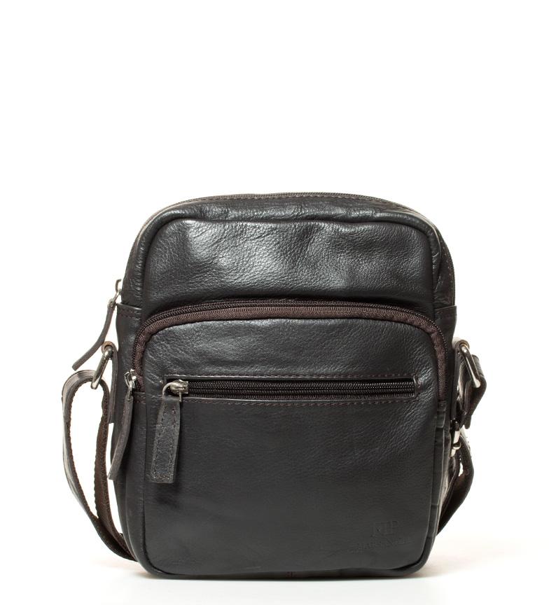 Comprar Marsan Piel 796 pelle marrone borsa a tracolla -18x18,5x5cm-