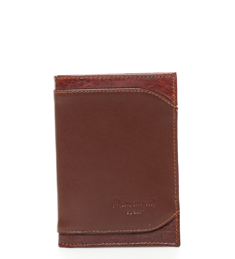Comprar Marsan Piel Karabu cuir marron billfold -12x8x1cm-