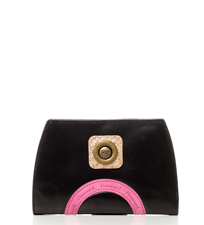 Comprar Marsan Piel Yoevil leather wallet black, pink-14x9x2cm-