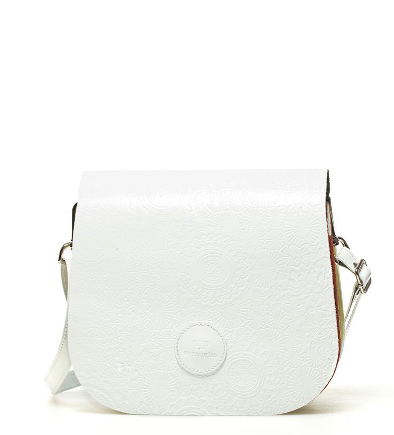Comprar Marsan Piel Sac à bandoulière en cuir blanc printemps -18x15x5cm-