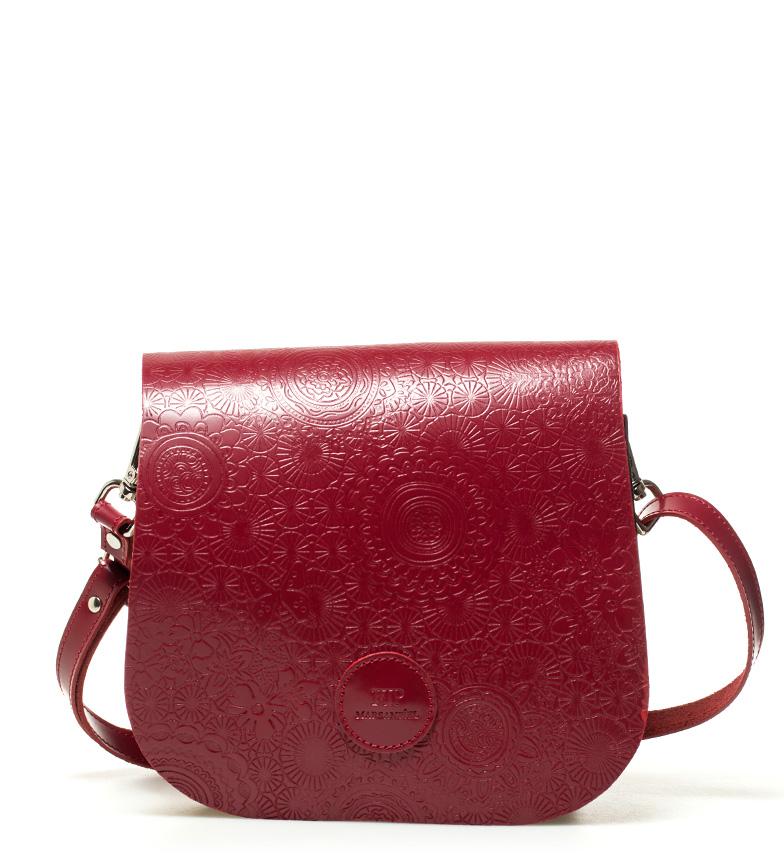 Comprar Marsan Piel Leather shoulder bag Red Spring -18x15x5cm-