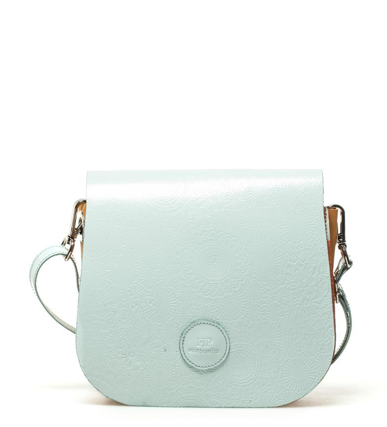 Comprar Marsan Piel Bolsa de ombro azul claro Primavera -18x15x5cm-