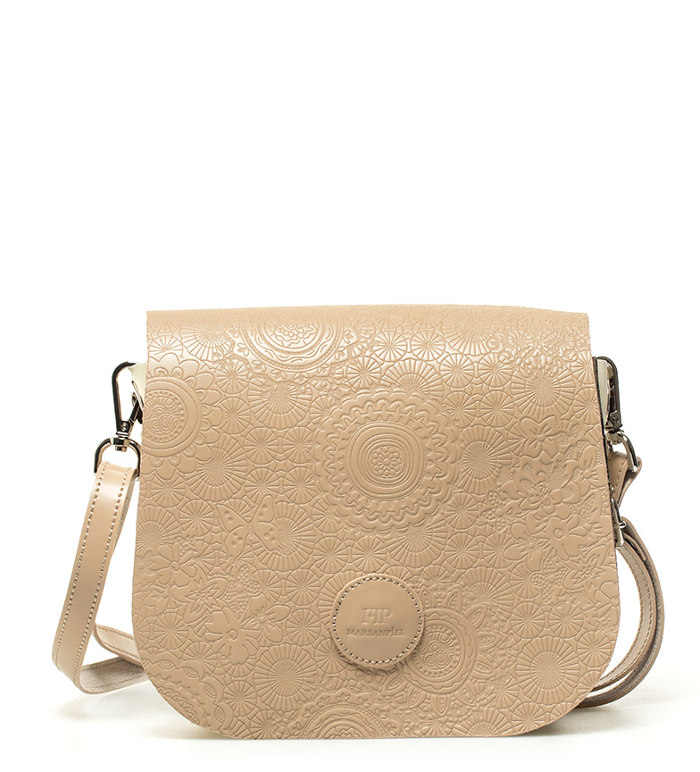 Comprar Marsan Piel Leather shoulder bag Primavera camel -18x15x5cm-