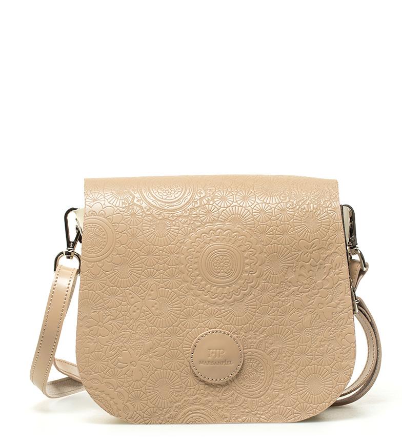 Comprar Marsan Piel Leather shoulder bag Primavera camel -18x15x5cm-