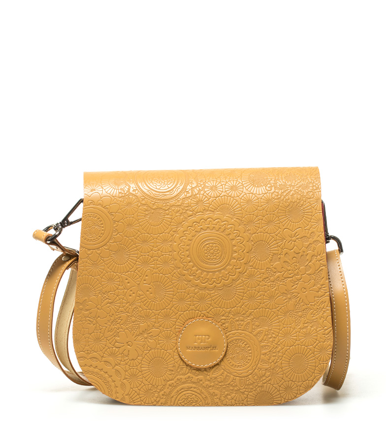 Comprar Marsan Piel Leather shoulder bag Mustard Spring -18x15x5cm-