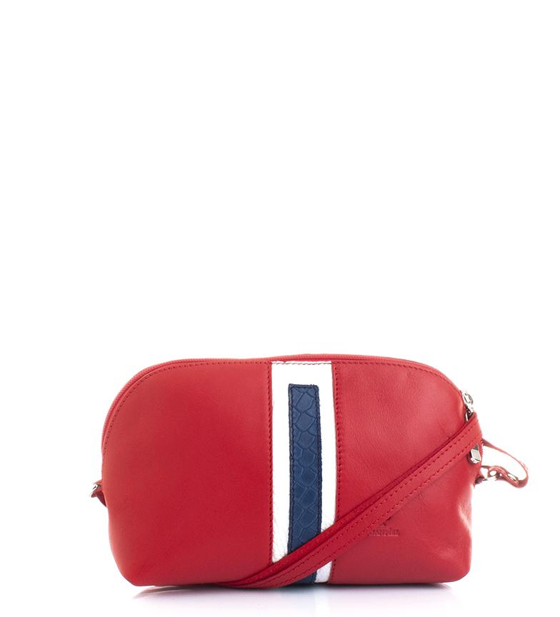 Comprar Marsan Piel Sac à bandoulière en cuir I234 rouge -16x24x8cm-