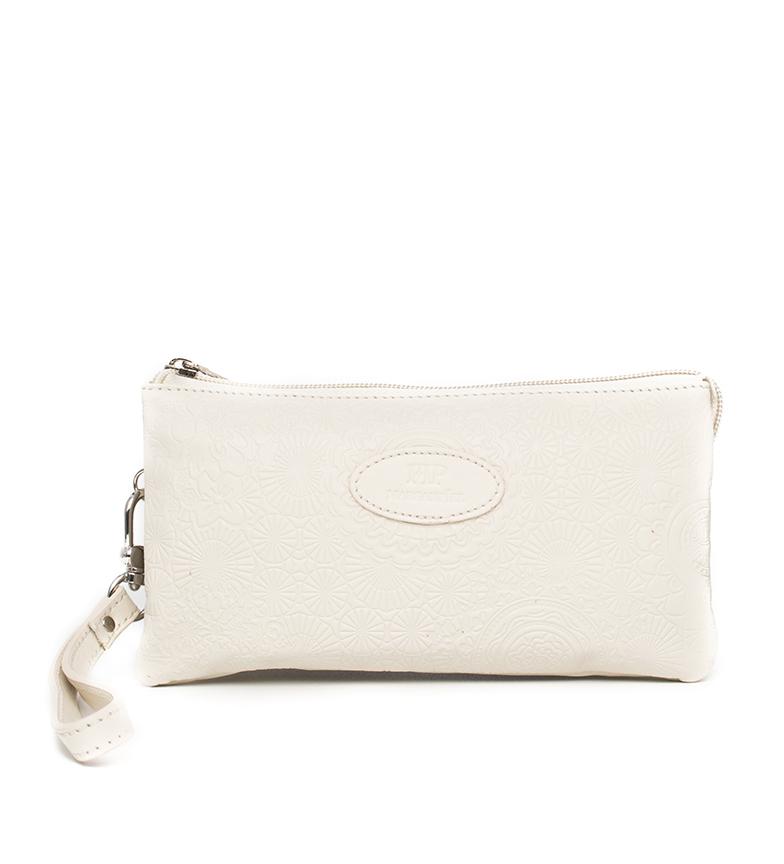 Comprar Marsan Piel Leather hand bag 232 beige -19,5x4x10,30cm
