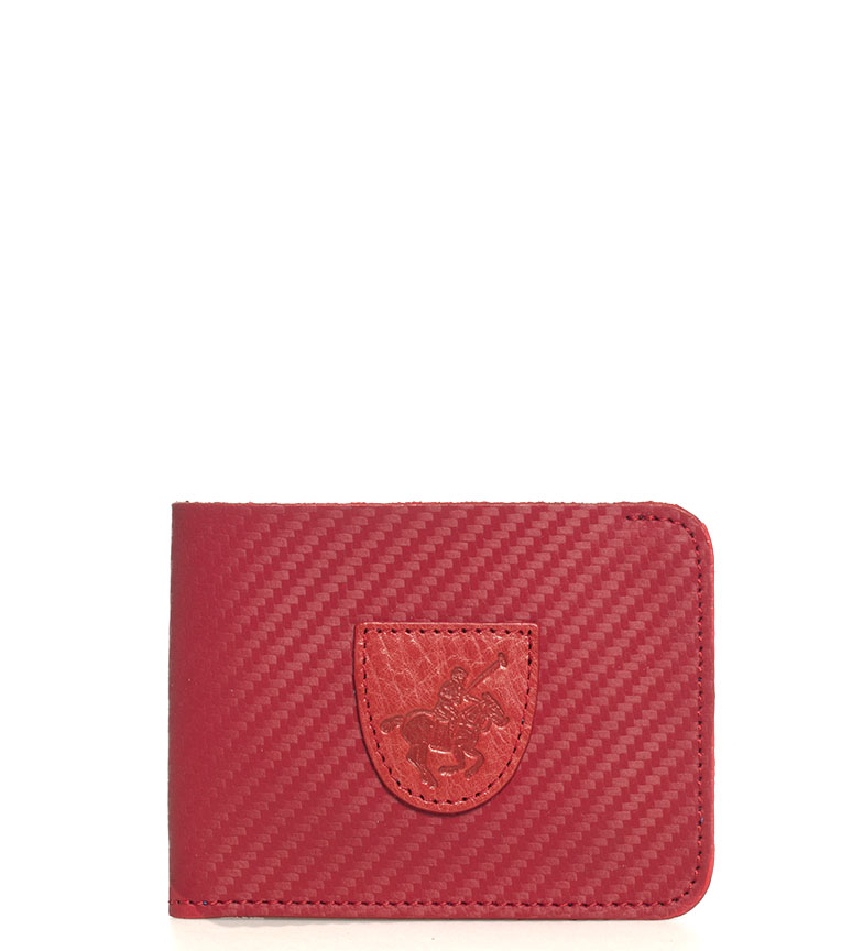 Comprar Marsan Piel Portefeuille en cuir américain 5003 Marbella rouge -8x1x10,5cm-