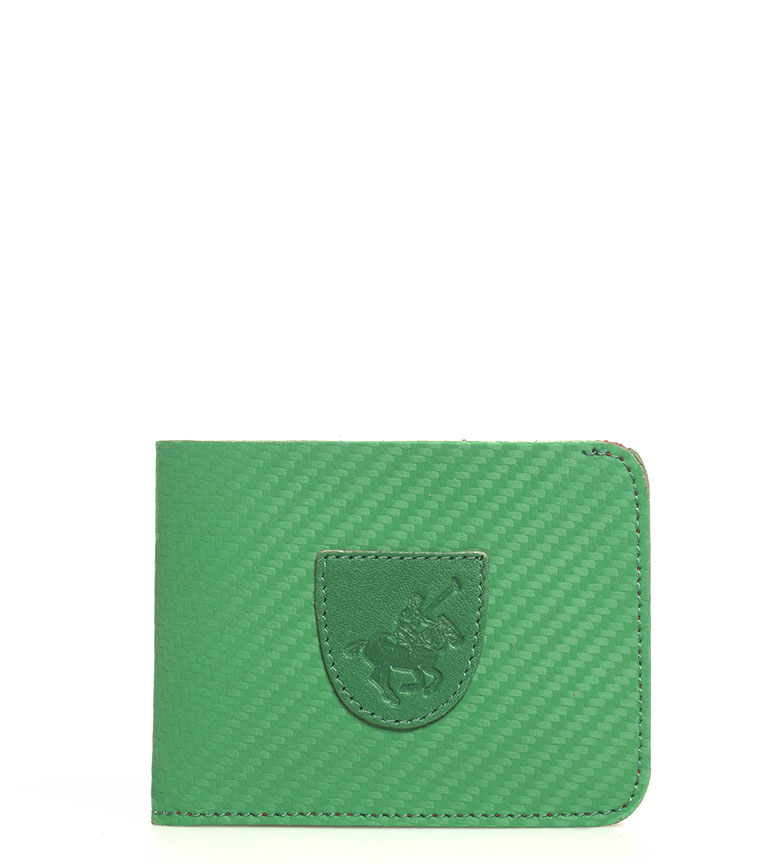 Comprar Marsan Piel Portefeuille américain en cuir 5003 Marbella vert -8x1x10,5cm-