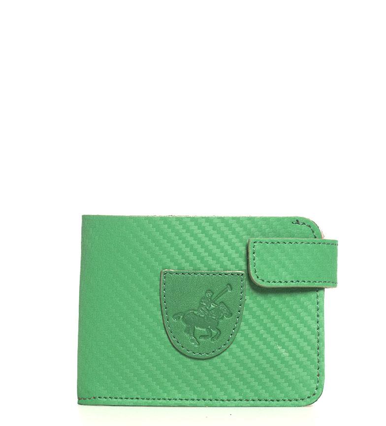 Comprar Marsan Piel Portefeuille américain en cuir 5004 Marbella vert -8x1x10,5cm-