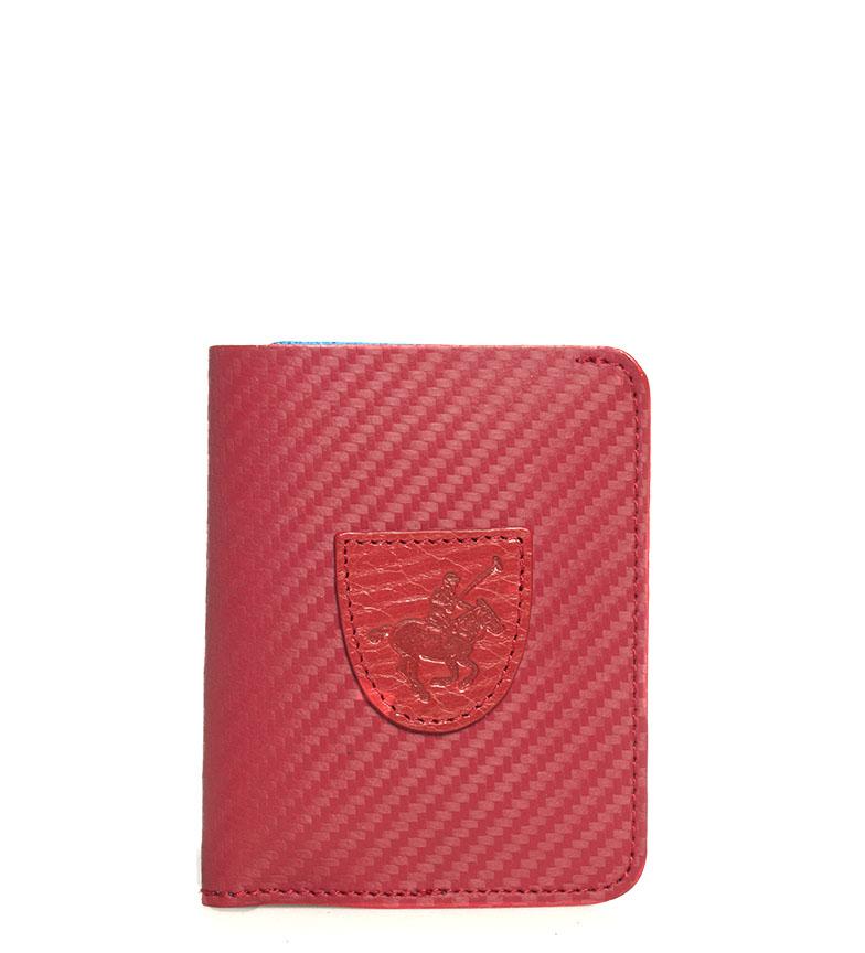 Comprar Marsan Piel Carteira de couro 5001 Marbella vermelho -10,5x1x8cm-
