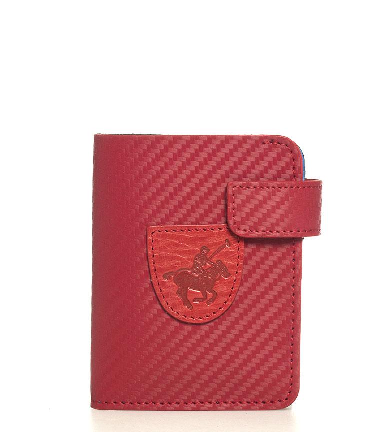 Comprar Marsan Piel Carteira de couro 5002 Marbella vermelho -10,5x1x8cm-