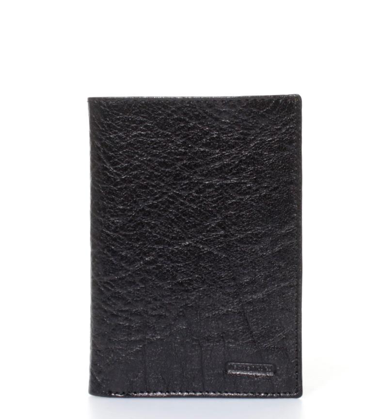 Comprar Marsan Piel Buffalino carteira de couro preta-9x12,5cm-