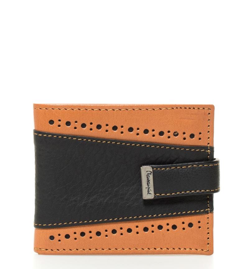 Comprar Marsan Piel Leather wallet Eme brown, black -10.5x9cm-