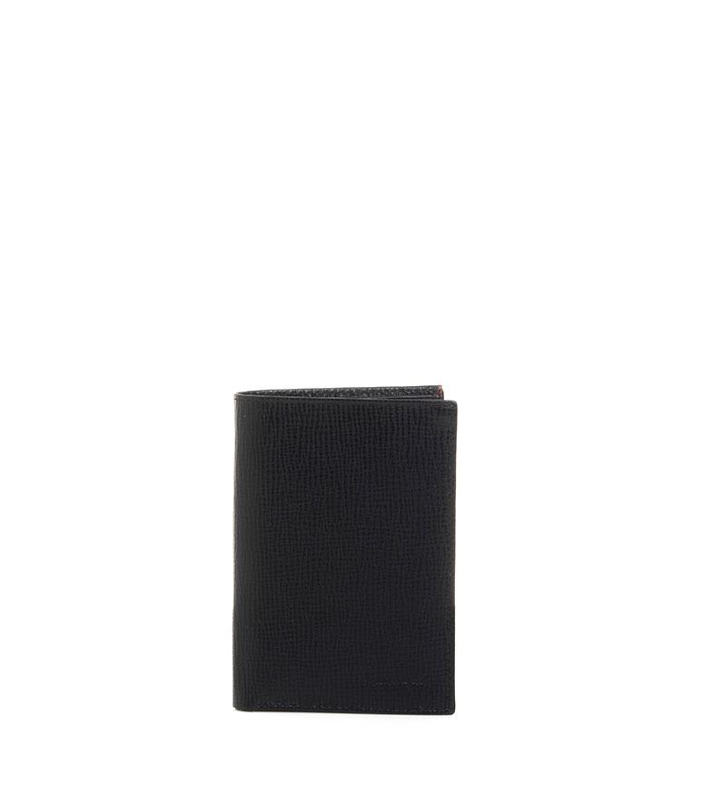 Comprar Marsan Piel Couro preto Nantes carteira-9x12,5cm-