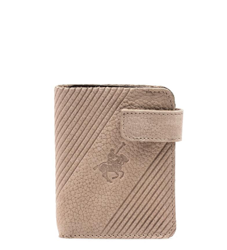 Comprar Marsan Piel Cartera de piel Polo beige -10,5x8,5 cm-