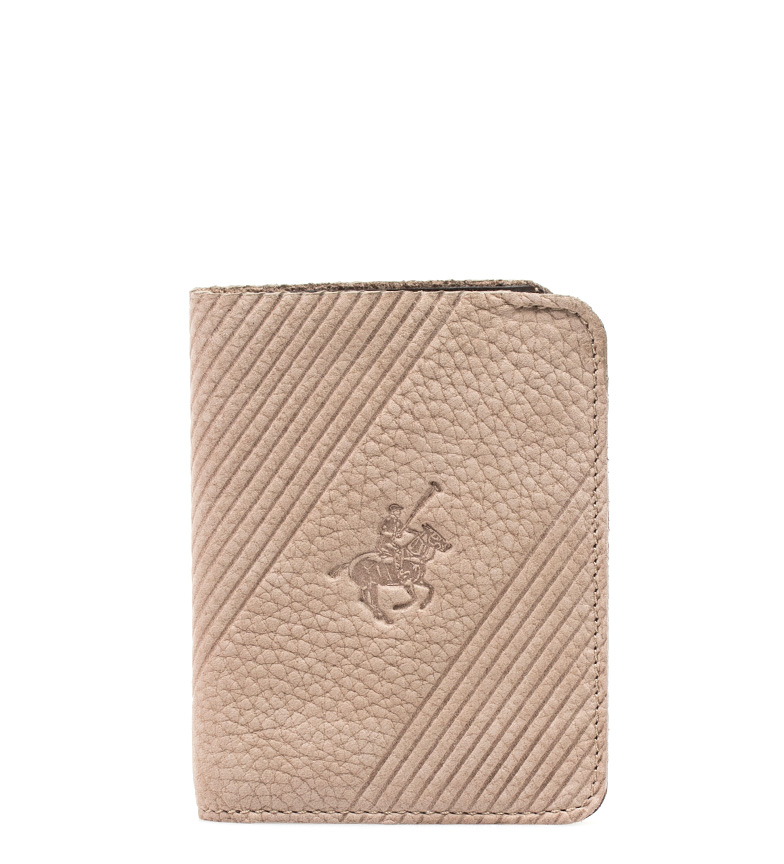 Comprar Marsan Piel Carteira de couro bege Pole -11x8,5 cm