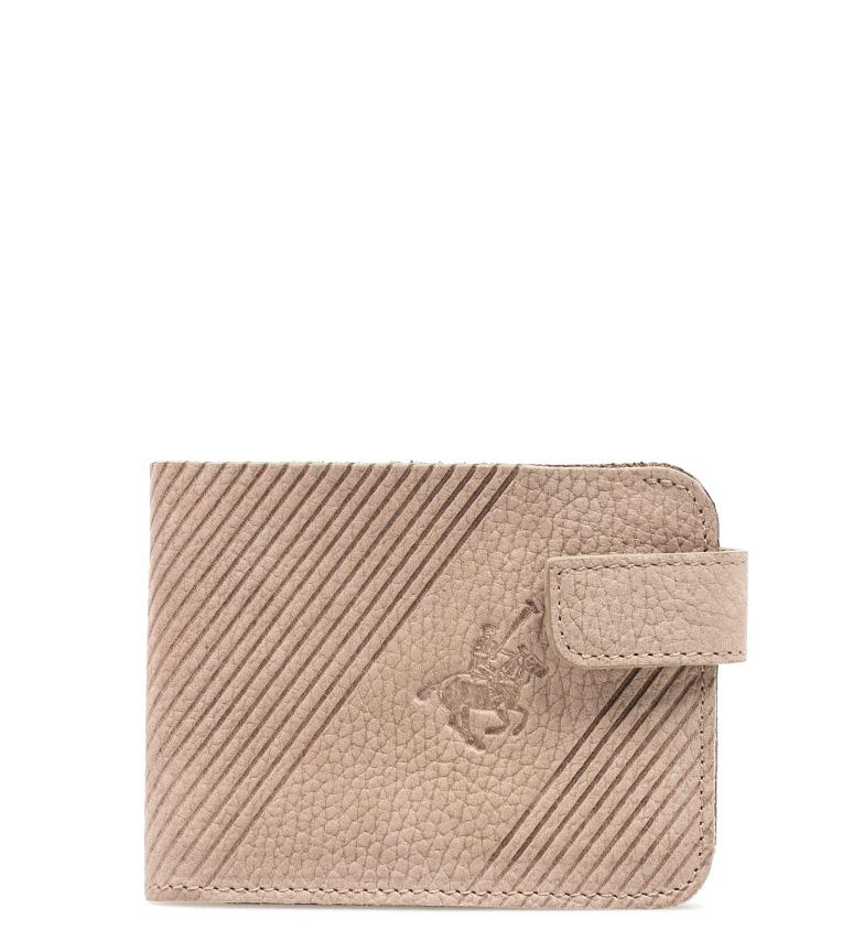 Comprar Marsan Piel Beige Portefeuille en cuir Pôle -8,5x11 cm-