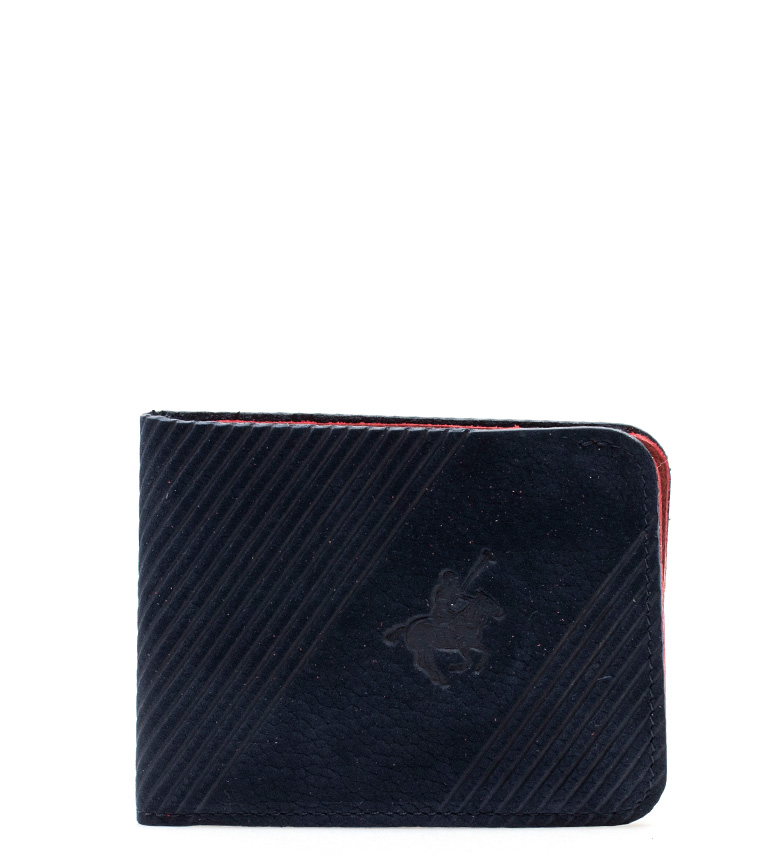 Comprar Marsan Piel Porte-monnaie en cuir bleu marine Polo -8,5x11 cm-
