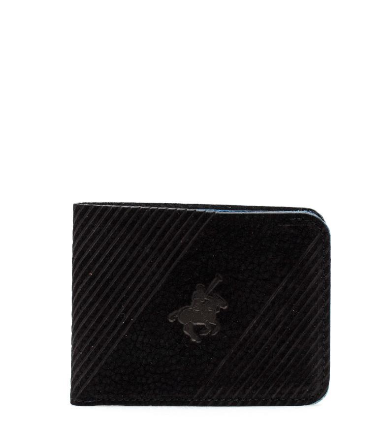 Comprar Marsan Piel Polo carteira de couro preta -8,5x11 cm