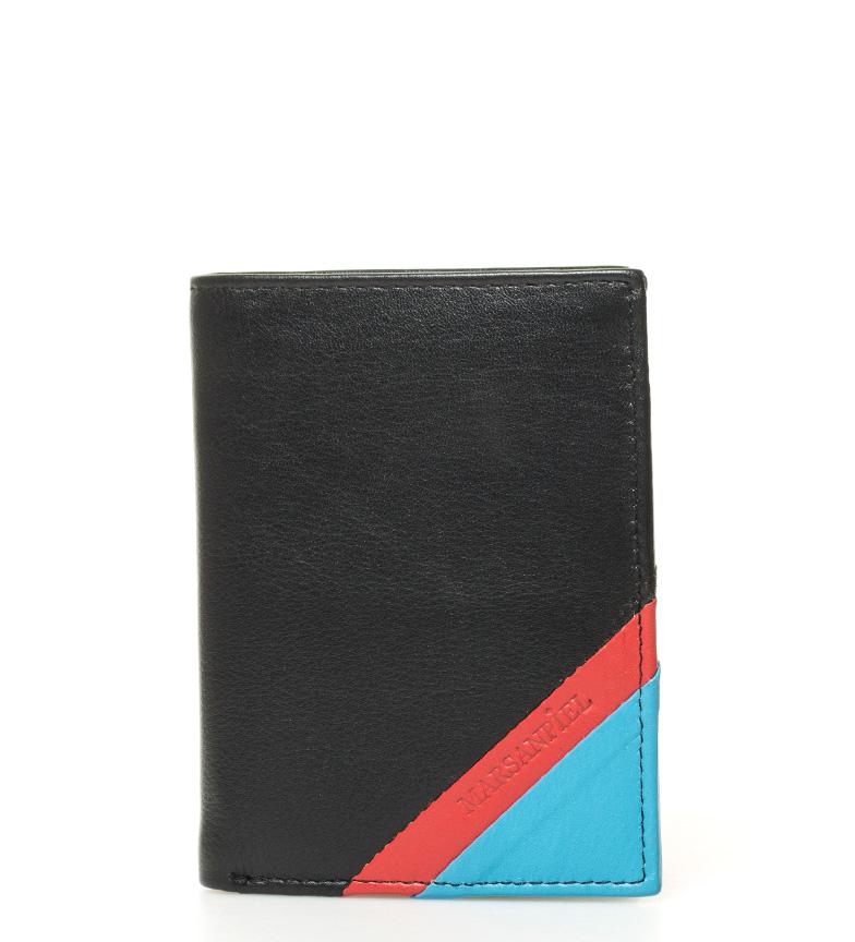 Comprar Marsan Piel Carteira de couro preto, azul, vermelho Texas -11x8x1cm-