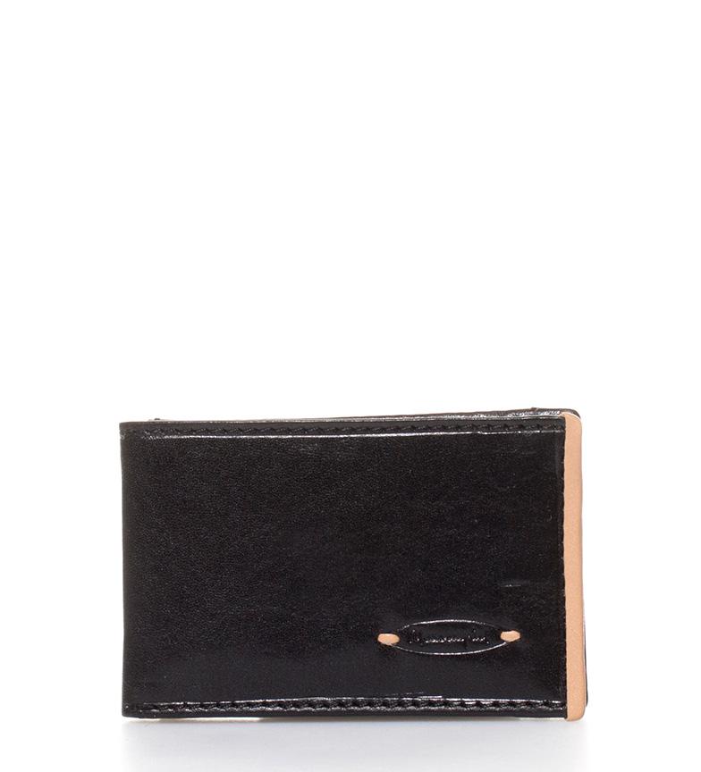 Comprar Marsan Piel Varese carteira de couro preta-10x1,5x6,5cm-