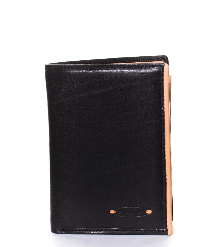 Comprar Marsan Piel Varese carteira de couro preta-9x2x12cm-