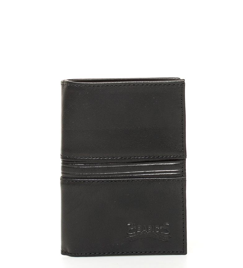 Comprar Marsan Piel Portafoglio in pelle nera Venezia -12x8x1cm-