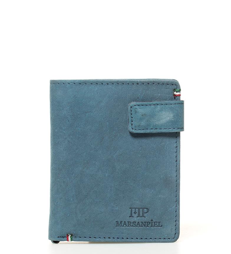 Comprar Marsan Piel Porte-monnaie en cuir bleu Virginie -10,5x8x1cm-