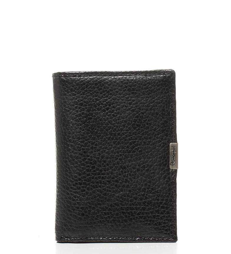 Comprar Marsan Piel Portefeuille-12x8,5x en cuir noir Vulcano, 1cm-
