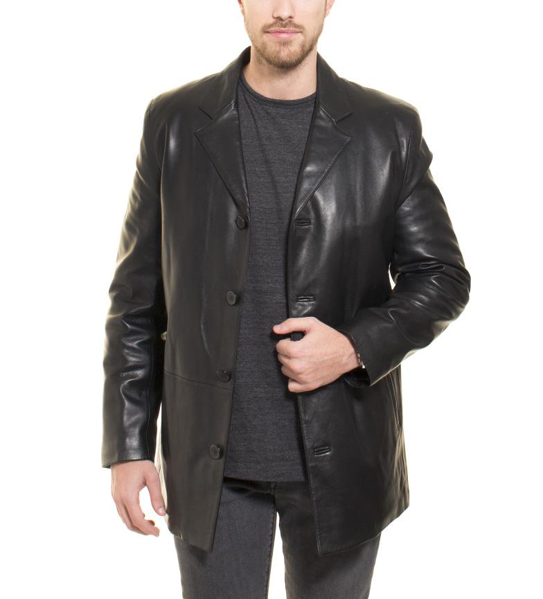 Comprar Marsan Piel Veste en cuir noir Suedi