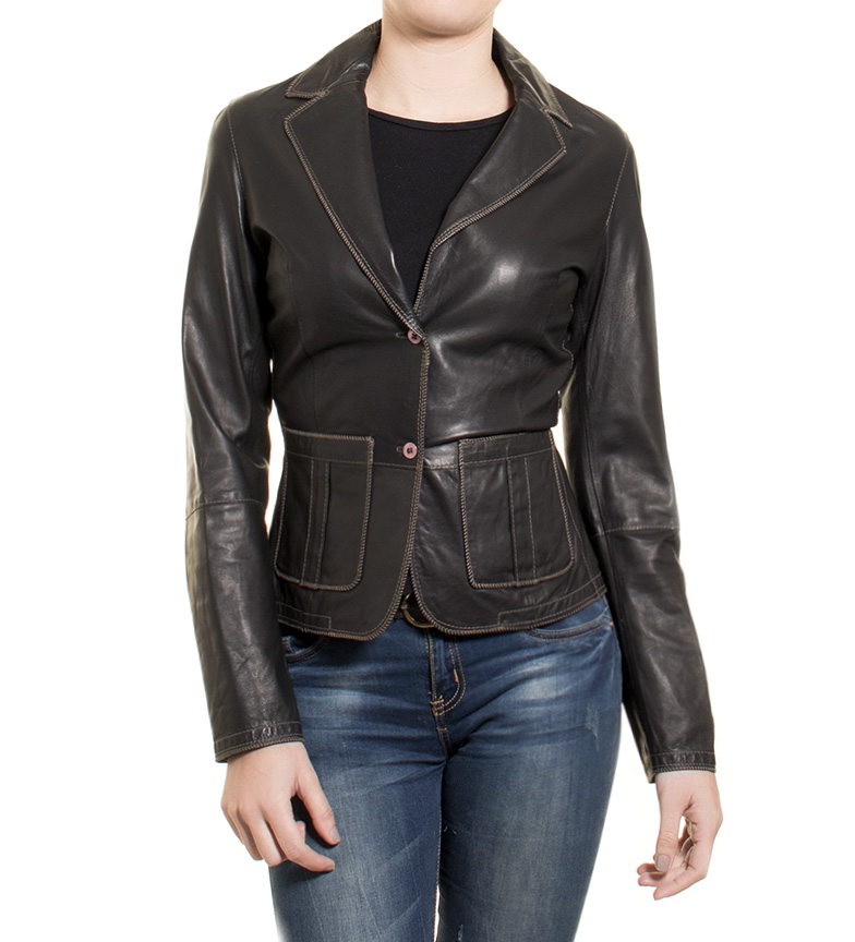 Comprar Marsan Piel Venice black leather jacket