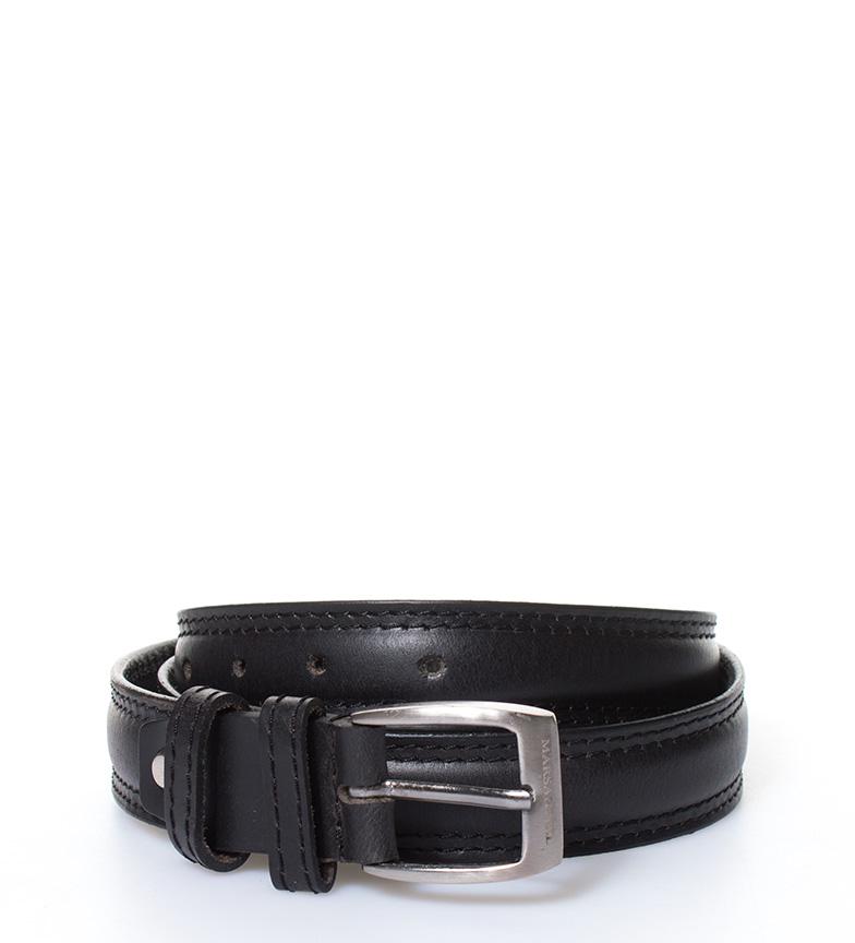 Comprar Marsan Piel Cinturón de piel Caravena negro