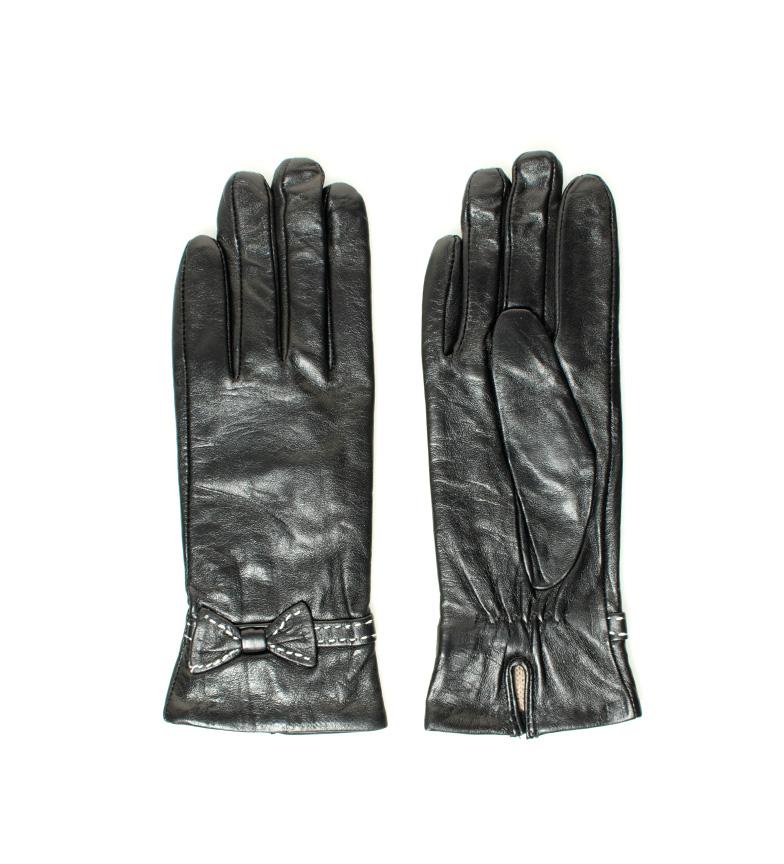 Comprar Marsan Piel Enguias luvas de couro preto